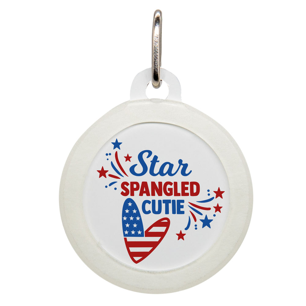 Star Spangled Cutie Dog ID Tag