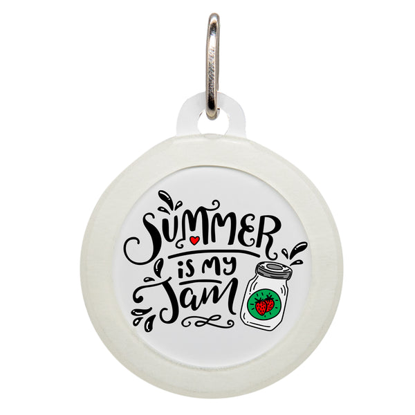 Summer Is My Jam Dog ID Tag