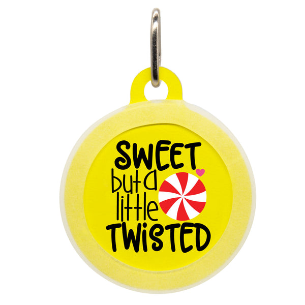 Sweet But A Little Twisted Dog ID Tag