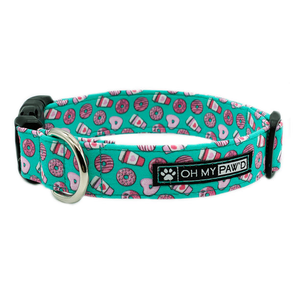 Donuts & Coffee Dog Collar