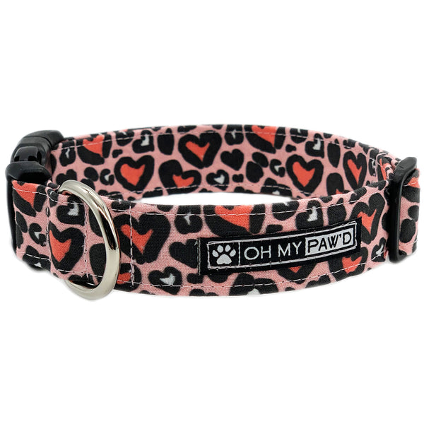 Pink Leopard Dog Collar