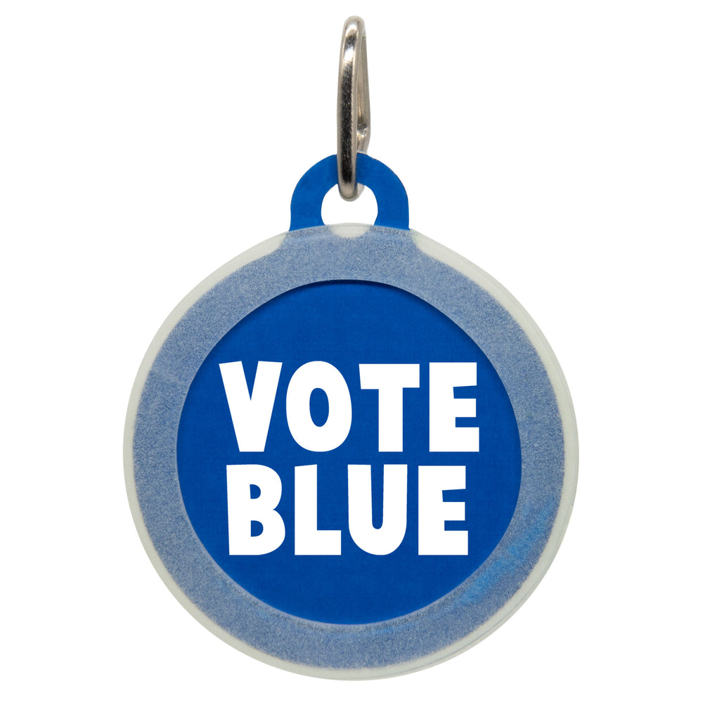 Vote Blue Dog ID Tag