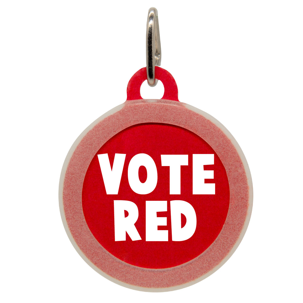 Vote Red Dog ID Tag