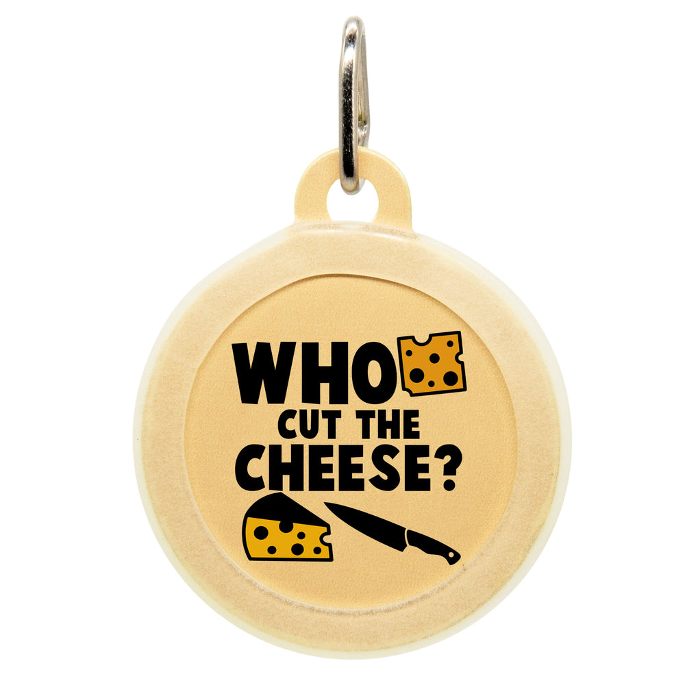 Who Cut The Cheese Dog ID Tag