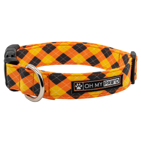 Fall Plaid Dog Collar