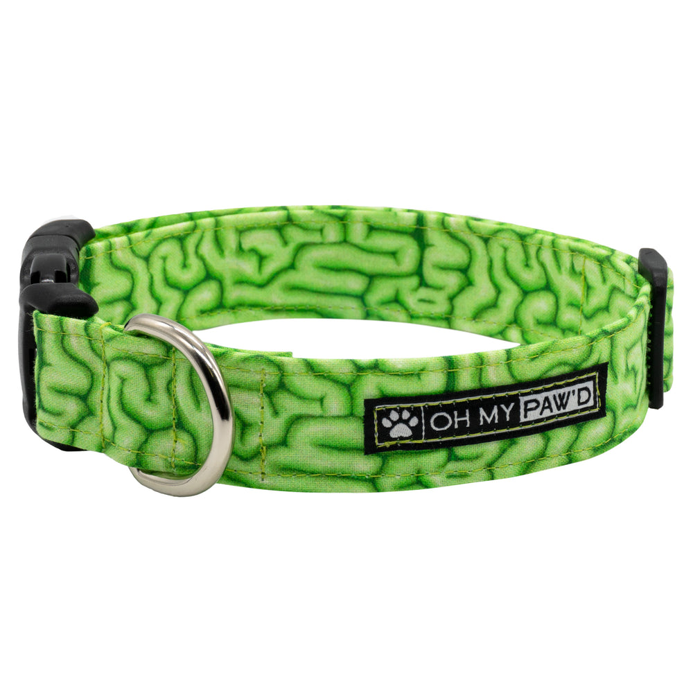 Zombie Brains Dog Collar