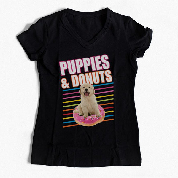 Puppies and Donuts T-Shirt Oh My Paw'd