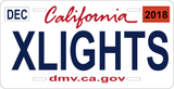 Custom xLights License Plates