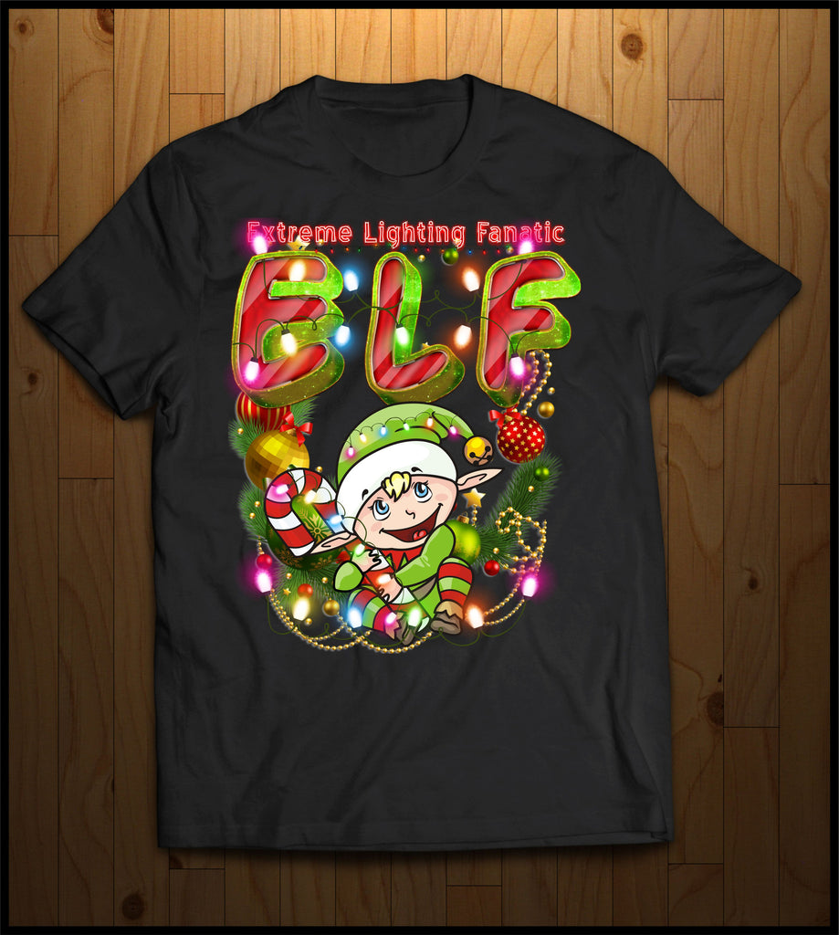 ELF Christmas Shirt (Extreme Lighting Fanatic #2)