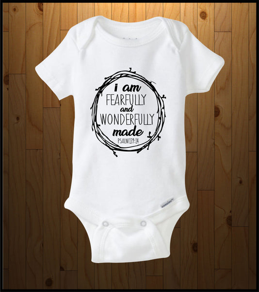 Fearfully and Wonderfully Made (Baby Onesies)
