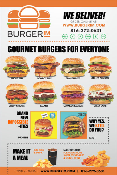 Burgerim Window Posters