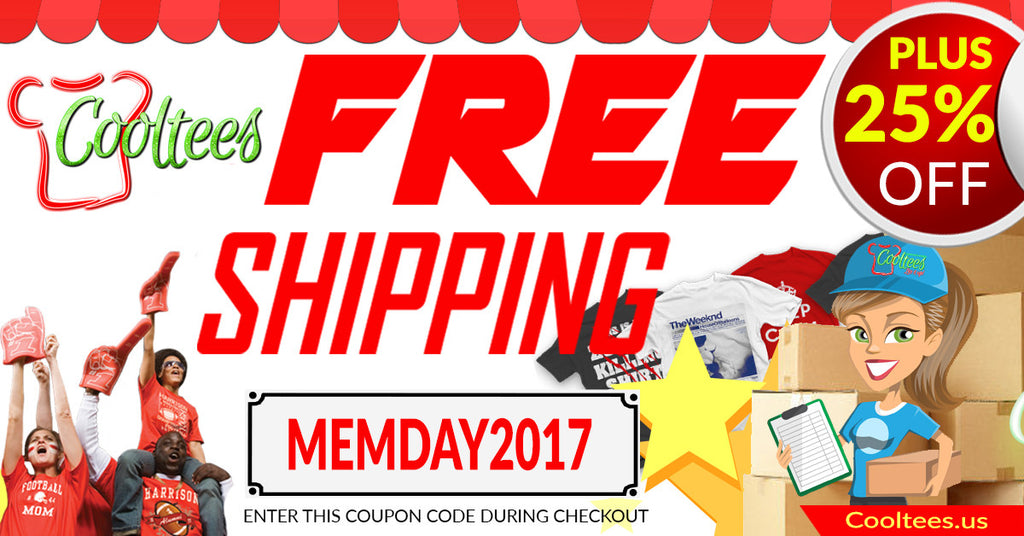 Free SHIPPING AND 25% off for Memorial Day!