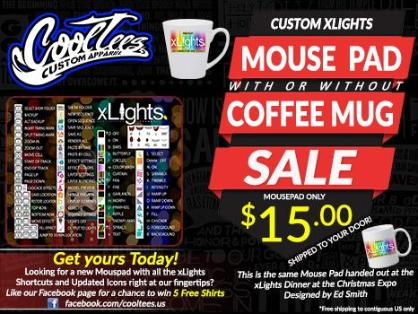 xLights Custom Mousepad [FREE SHIPPING]