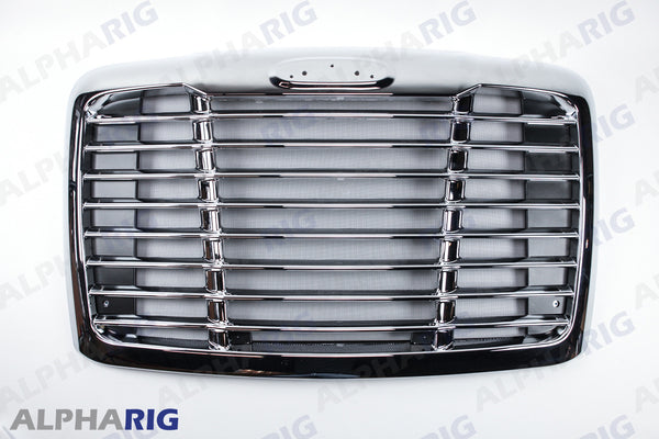 FREIGHTLINER CASCADIA FRONT GRILLE 2008+ CHROME/BLACK w/BUGSCREEN