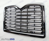 MACK VISION II  FRONT GRILLE 1998-2001 CHROME/BLACK w/BUGSCREEN