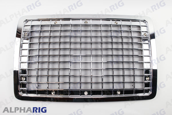 VOLVO VN FRONT GRILLE 2004+ CHROME/BLACK w/oEMBLEM HOLE w/BUGSCREEN