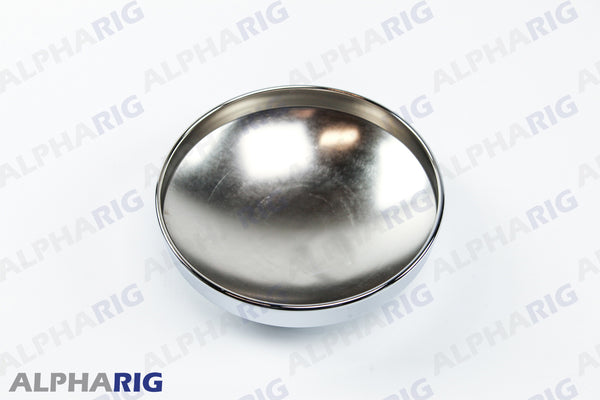 "UNIVERSAL REAR HUB CAP STANDARD 8""DIAx2-3/4"" HIGH CHROME"