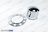 UNIVERSAL REAR AXLE COVER SET STANDARD ROUND (2PC) CHROME