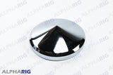 "UNIVERSAL REAR HUB CAP CONE 8-1/4""DIAx3-3/8"" HIGH CHROME"