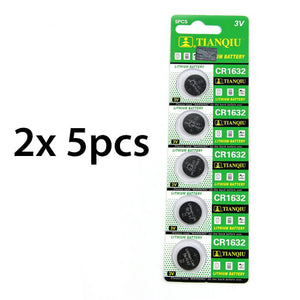 Tire Pressure Monitor - 5pcs REPLACEMENT BATTERY CR1632 Lithium 3v