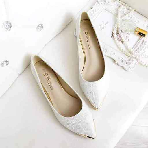Angel White Flat Shoes