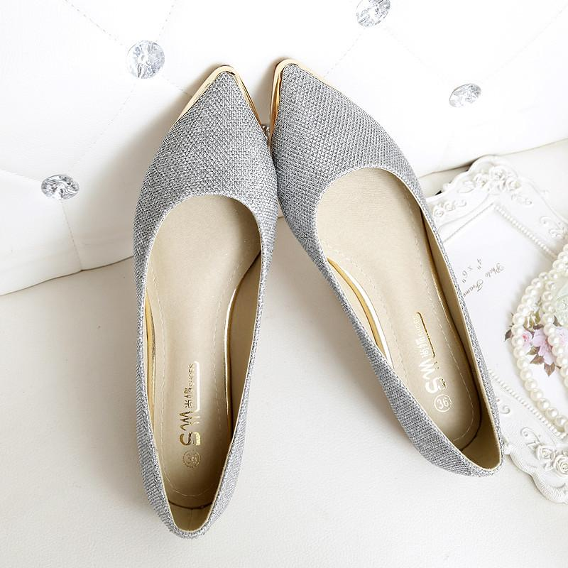 Angel White Flat Shoes - Unrestory
