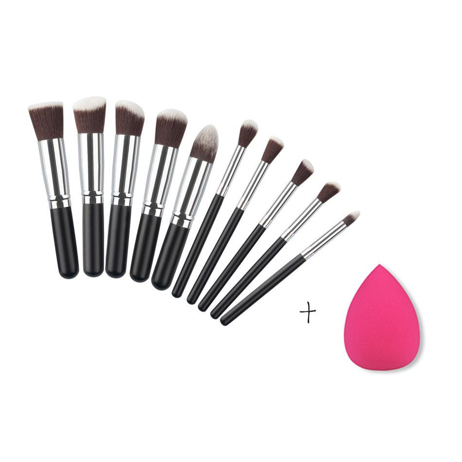 10pcs Makeup Brushes - Unrestory