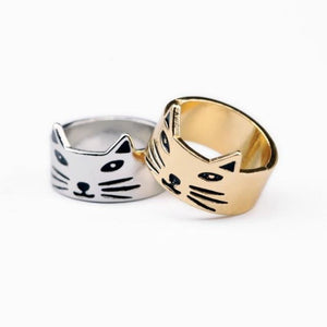 Cute Little Cat Rings - Unrestory
