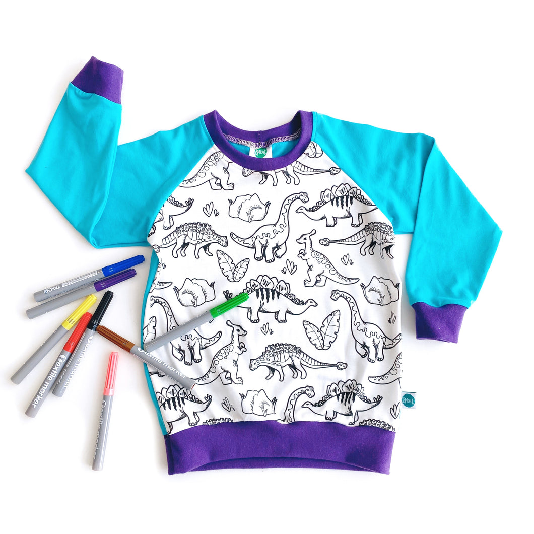 Colour-in Dinosaur Top