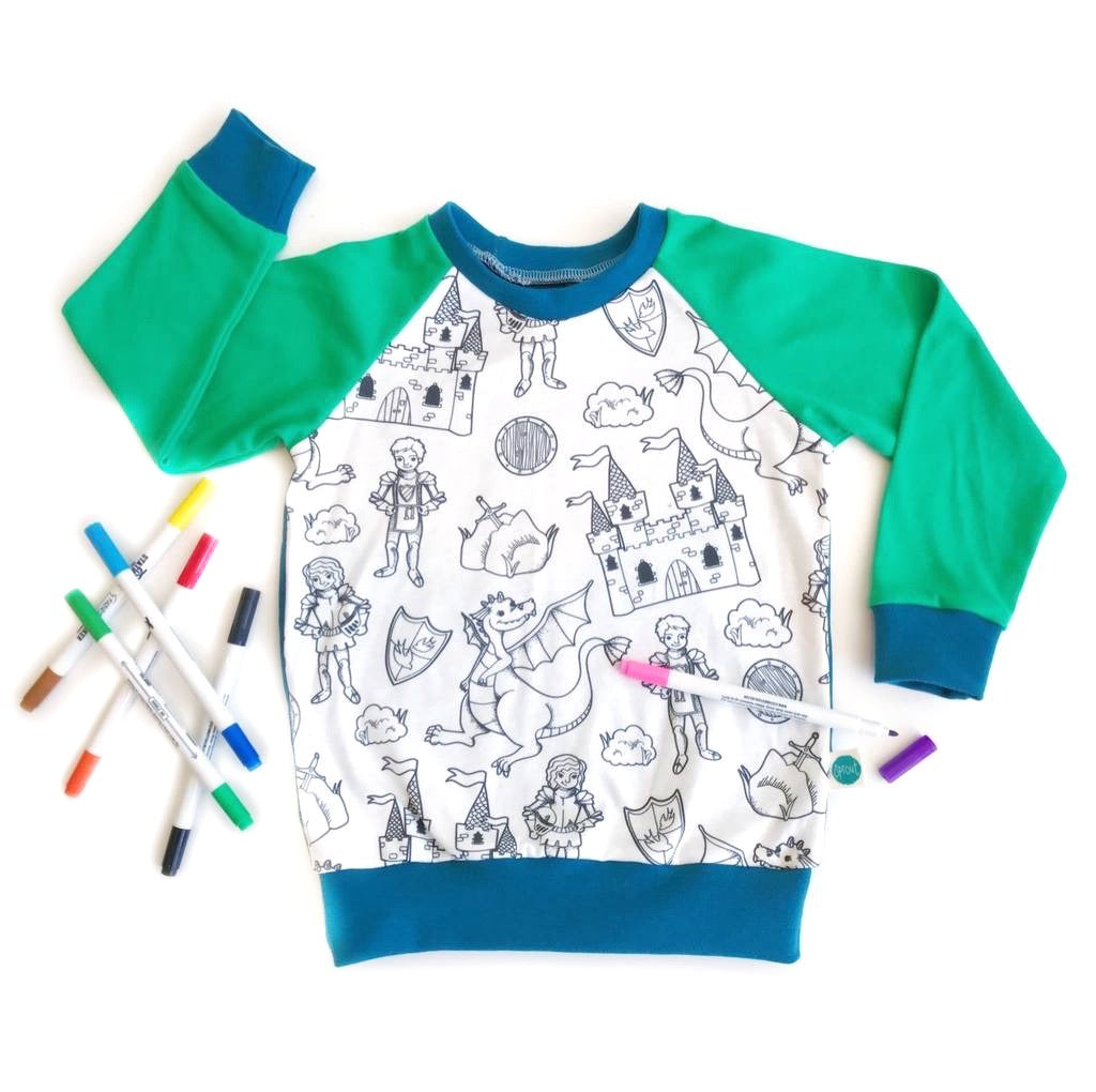 Colour-in Knights Top