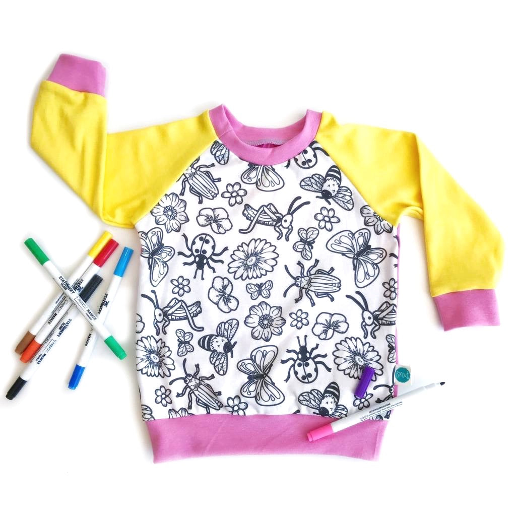 Colour-in Flower Top