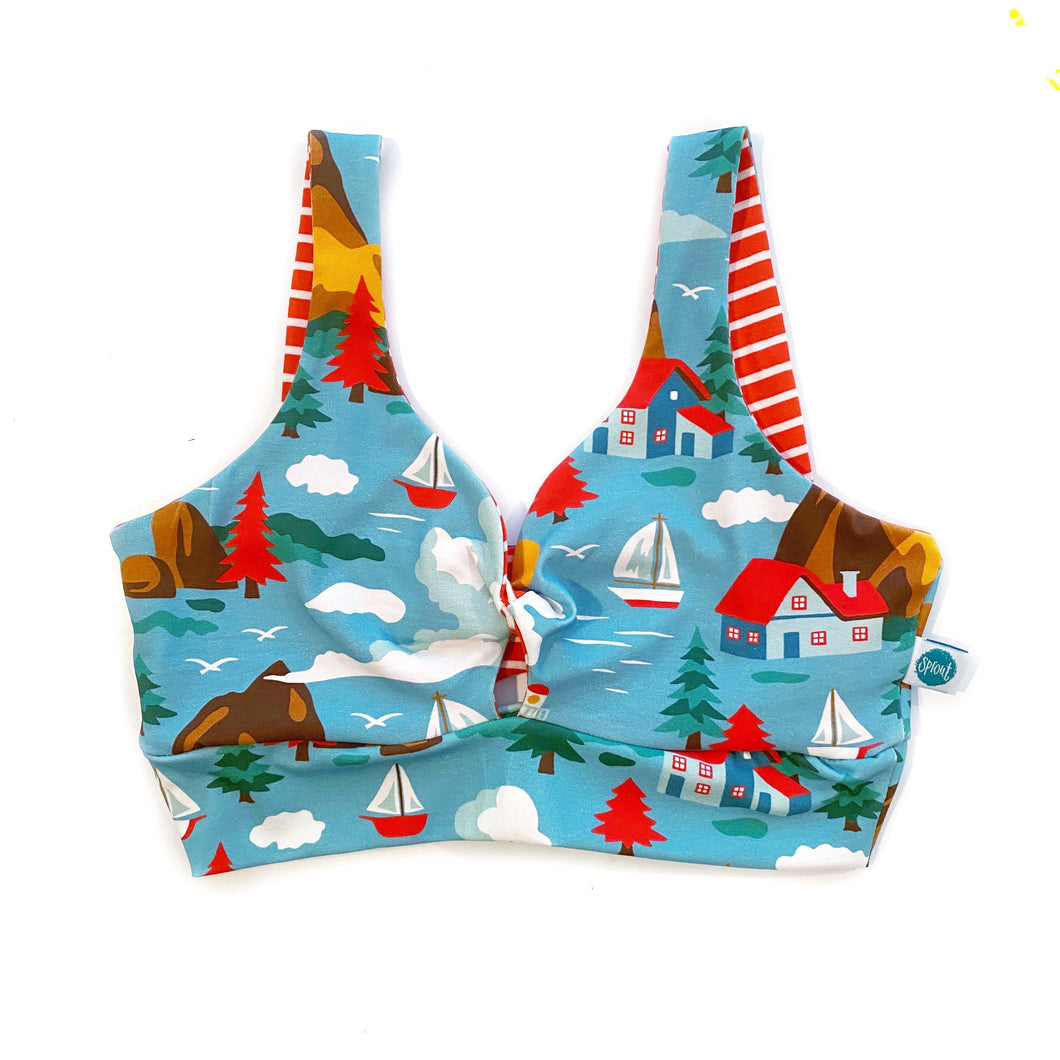 Sailboat Twist Front Bra