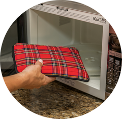 Tartan Hottle into microwave