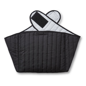 Black Quilted Back Wrap Hottle