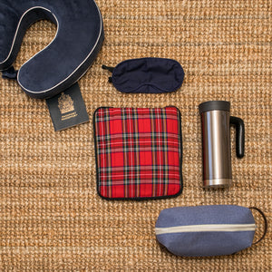 Blue Tartan Hottle Personal Warmer back