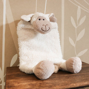 Plush Sheep PJ, bed and body warmer baby scene