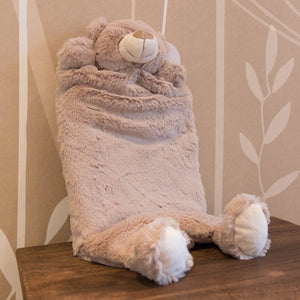Plush Teddy PJ, bed and body warmer baby scene