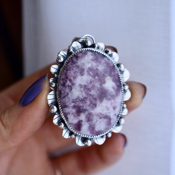 Little Dark Cloud Ring with Blue Goldstone size 6