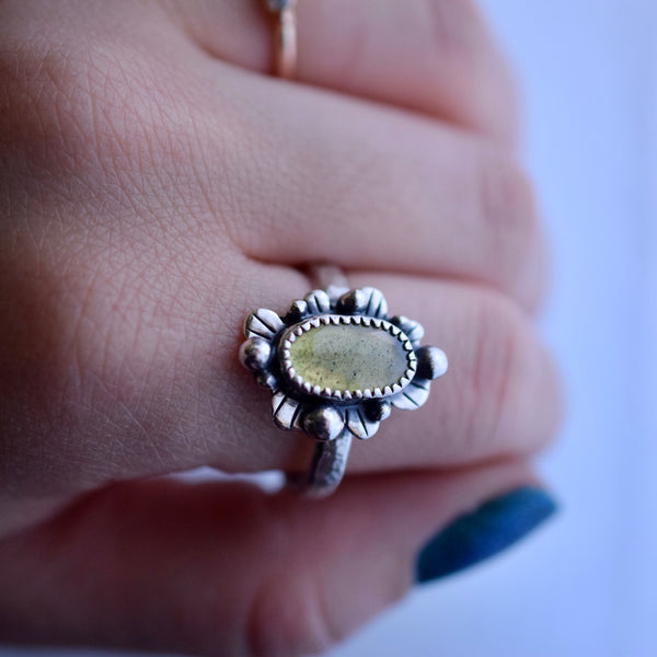 Supernova Ring with rose cut Sphene size 10