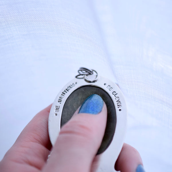 Little Dark Cloud Ring with Sleeping Beauty Turquoise size 6