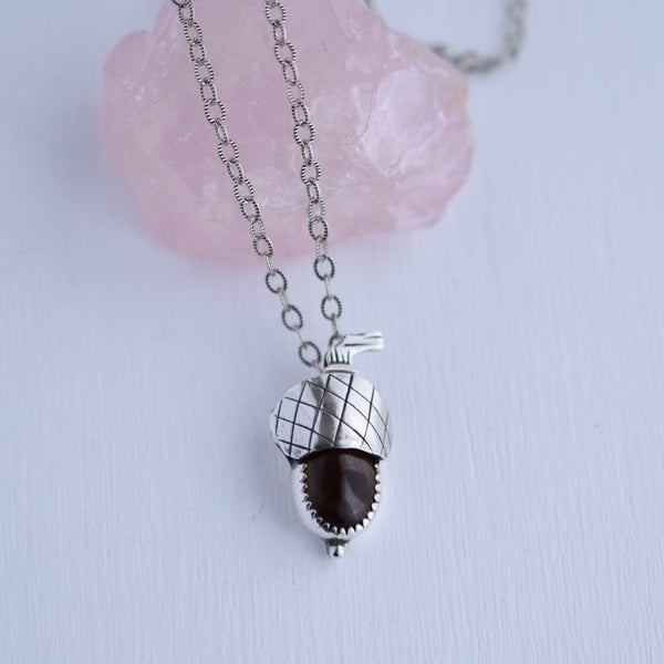 Acorn Pendant with Tigers Eye #002