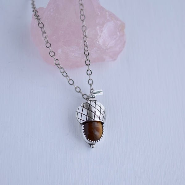 Acorn Pendant with Tigers Eye #003