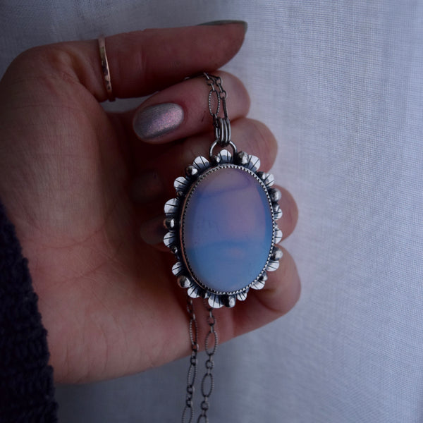 Worry Stone Pendant with Opalite