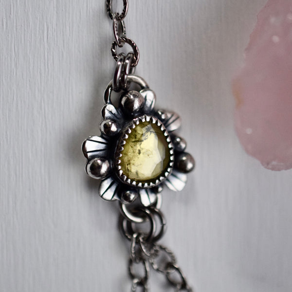 Vintage Garden Party Statement Pendant