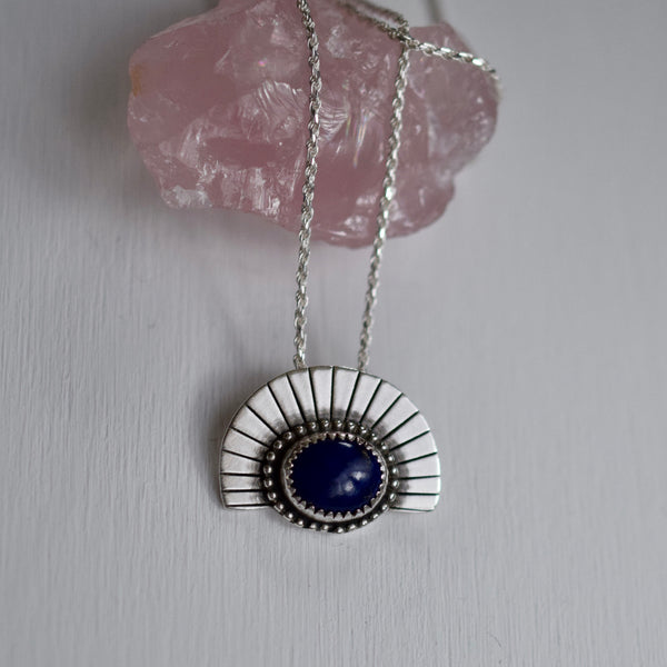 Watchful Eye Necklace with Lapis Lazuli