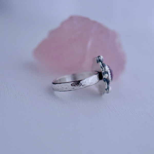 Supernova Ring with Rose Cut Sapphire size 5