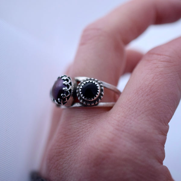 Moonlight Siren Ring with Black Onyx size 9