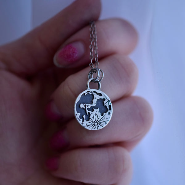 Made-To-Order Double Sided Lunar Zodiac Pendant