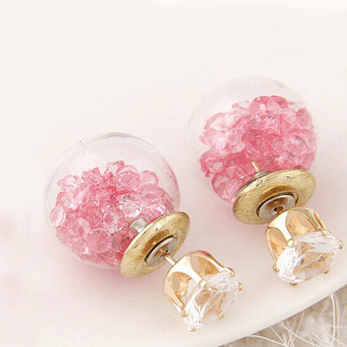 Crystal Double Sided Earring Studs