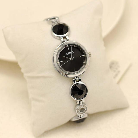 Crystal Diamond Bracelet Quartz Watches Waterproof